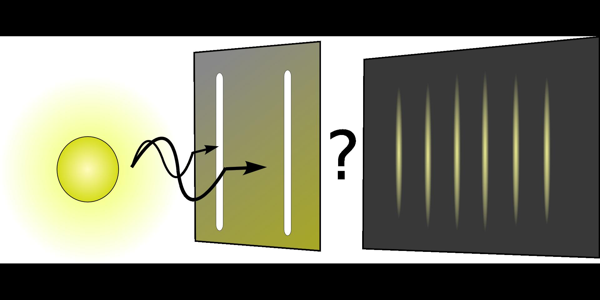 量子コンピューターの原理である量子力学のスリット図